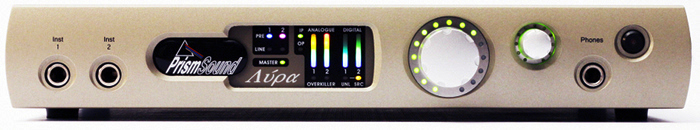 Lyra 2 recording interface front panel