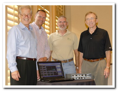 (From left to right): Doug Ordon, Prism Sound; Maurice Patist, Prism Sound; Michael Wahlrab, TFM; John Marcinkowski, TFM