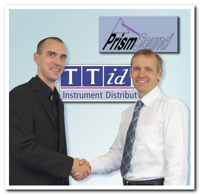 Prism Sound's Simon Woollard and TTid's Mark Edwards