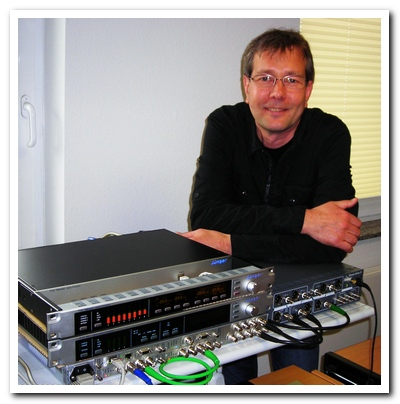 Jünger Audio's Technical Support engineer Bernd Fuhrmann