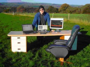 Peter Watts and his dScope 'in the field'