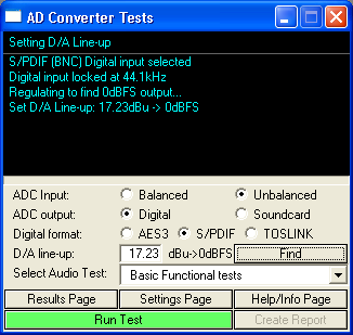 Screen shot of ADC script interface