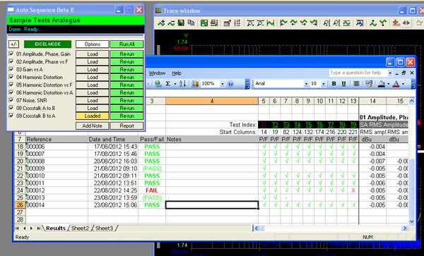 Screen Shot of Auto Sequence and Excel