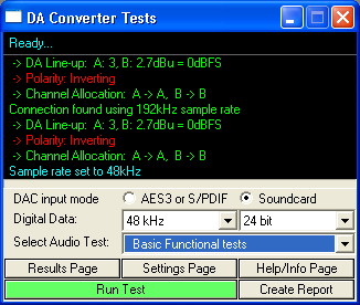 Screen shot of DAC script interface