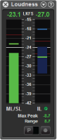Sentinel loudness meter panel