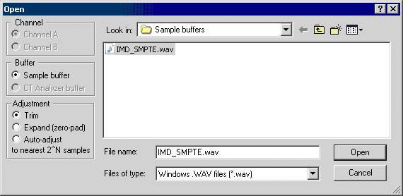 Test and Measurement Applications: WAV file FFT analysis using