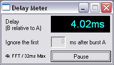 Delay meter interface