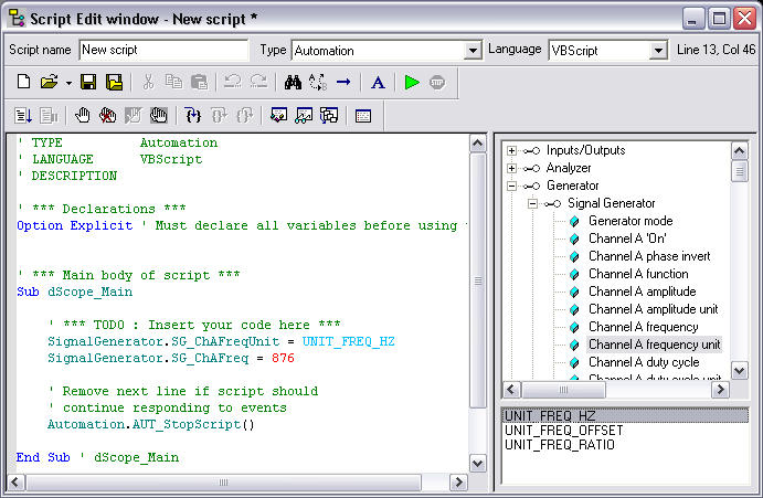 dScope Series III Scripting and automation