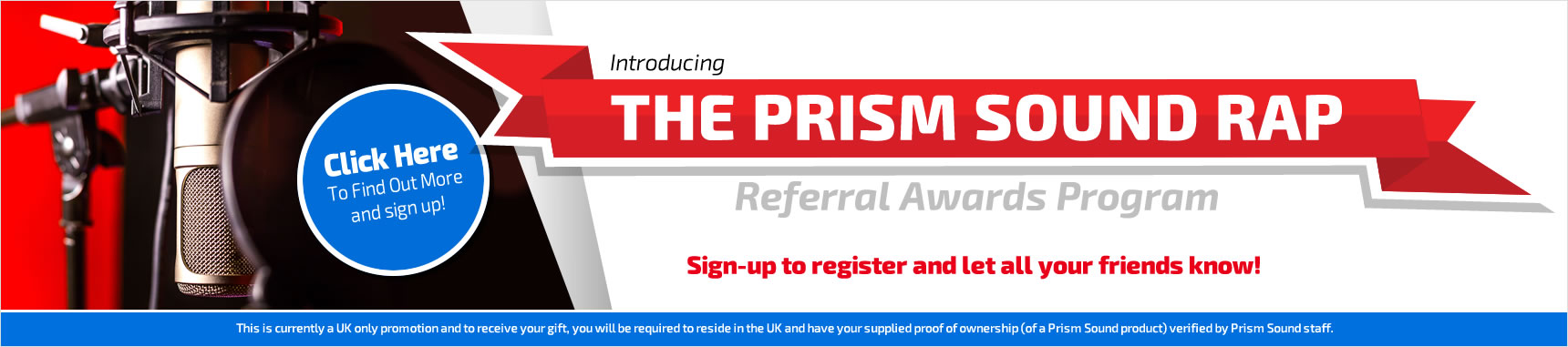 Prism Sound Referral Awards Program