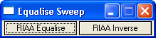sweep equalization script interface